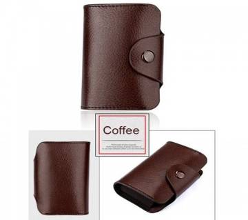 Leather Credit Card Holder with Wallet