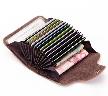 Fashion Leather Luxury Credit Card Holder & Wallet