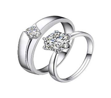 Couple Crystal Finger Ring