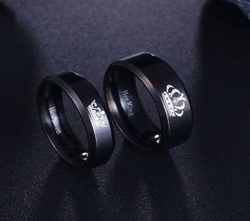 King and Queen Couple Ring Set