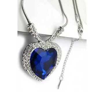 Blue Titanic Heart Shaped Necklace
