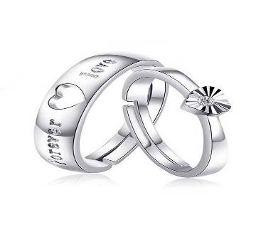 Silver Allow Finger Ring for Couple