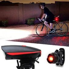 Waterproof Rechargeable 2 In 1 Bicycle Light and Horn