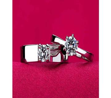 Prince And Princess Crown Couple Finger Ring