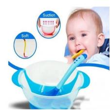 Cute Baby Spoon and Bowl with Cover Feeding Set