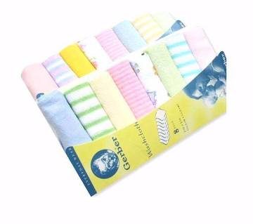 Gerber Newborn Baby Boy Towels Set- 8 pc