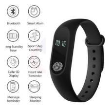 M2 Smart Band with OLED Display Heart Rate Sensor - Black