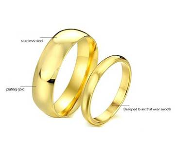 Couple Gold Plated Finger Ring Combo