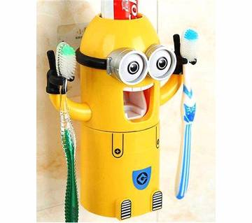 Minion Toothpaste Dispenser & Toothbrush Holder