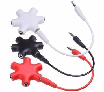 5 Way 3.5 mm Headphone Splitter