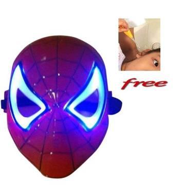 Spider Man মাস্ক উইথ ফ্রি LED ইয়ার পিক