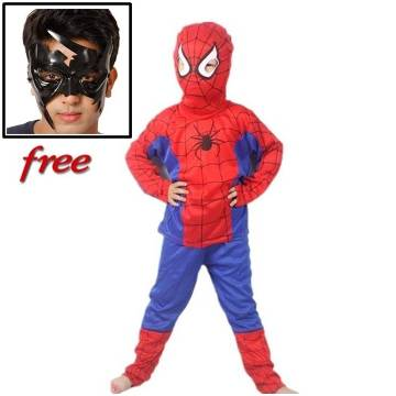 Spider-man Dress with free Krrish Mask