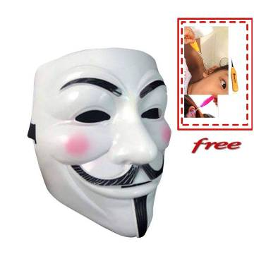 Vendetta Mask with free LED Ear pick