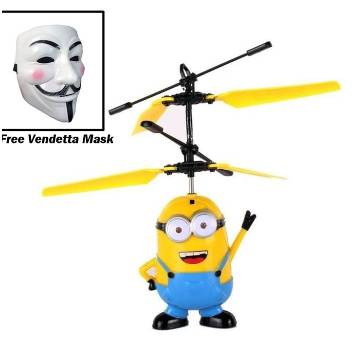 Flying Minion Helicopter Kids Toy with Vendetta Mask