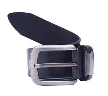Black Mixed Leather Casual Belt For Men