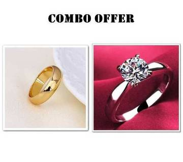 Combo offer Gold plated Finger Ring for man and woman
