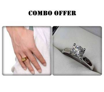 Combo offer Gold silver plated Finger Ring
