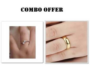 Combo offer Rose Gold plated Finger Ring for couple