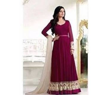 un stitched cotton embroidery long three piece- copy
