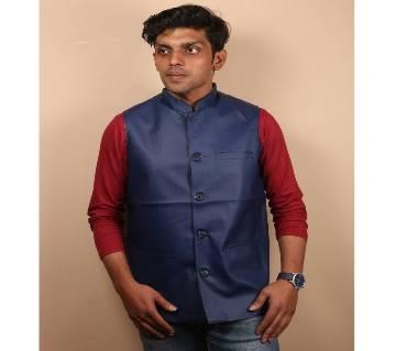 Blue Artificial Leather koti for men