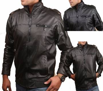 Full Artificial Leather Jacket