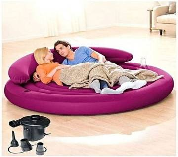 Inflatable Round Sofa With Pumper