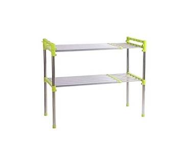 Tier Multifunctional High Quality and Durable Storage Rack - Green and Silver