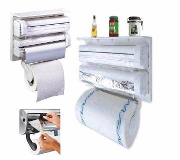 3 in 1 kitchen Foil and Tissue Roll Dispenser