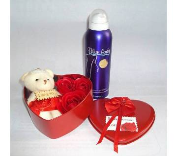 Valentine Gift Box with Body Spray