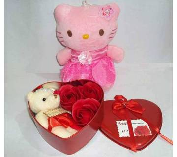 Valentine Gift Box with Hello Kitty Doll