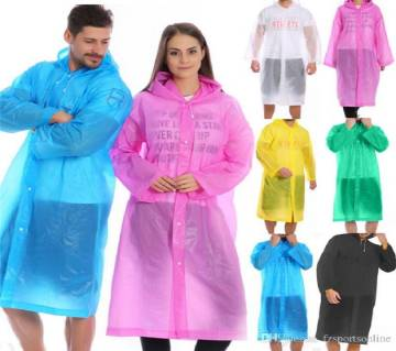 Men/Women Hooded Waterproof Rain coat Water collar 1 pice