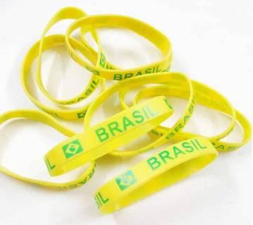 Brazil রিস্টব্যান্ড -রাবার (১০ পিসের কম্বো)