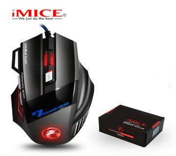iMice X7 Wired Gaming Mouse Professional 7 Buttons LED Optical Game Computer Mouse