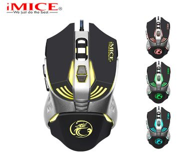 iMice V5 Programmable Gaming Mouse 3200DPI 7 Buttons Backlit USB Wired Optical Computer Mouse Gamer for PC Laptop Desktop