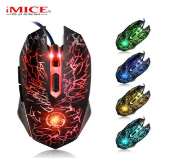 iMice X5 Professional Wired Gaming Mouse USB Optical Computer Mouse 6 Buttonss For DOTA 2 / CS GO/ LOL Gamer Laptops Desktops