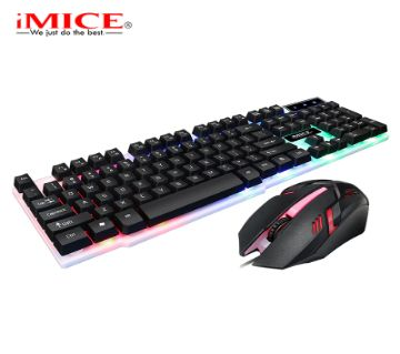 Imice KM-680 Keyboard mouse set wired USB luminous game keyboard mouse set backlight key mouse