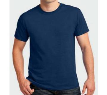 Mens Cotton Navy Blue Round neck  t-shirt