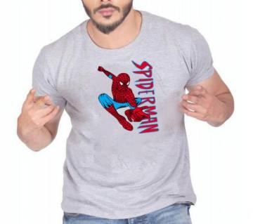 Spiderman Mens Half Sleeve Cotton Round neck  t-shirt