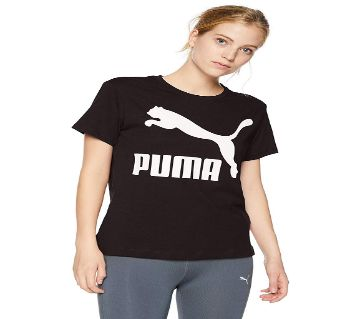 Womens Round Neck Cotton T-shirt