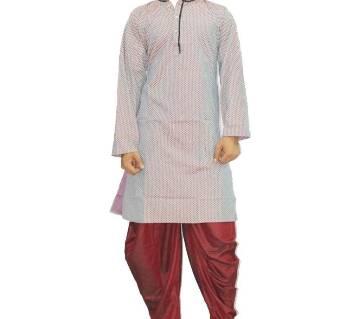 Semi long multi shade color Panjabi.