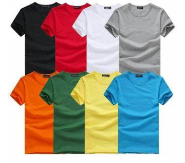 Mens Cotton Round neck t-shirt (8 pcs)