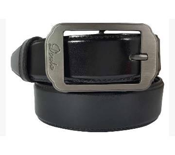 Black Lather Belt for Men 0199BLT