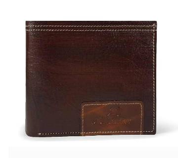 Chocolate Black Leather Wallet for Men-0221WLT