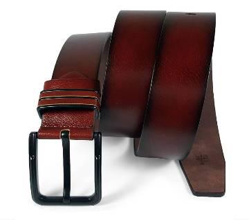 Chocolate Leather Belt for Men-0224BLT