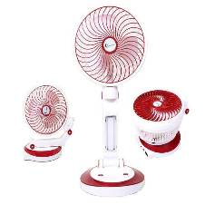 Rechargeable table fan with LED lights