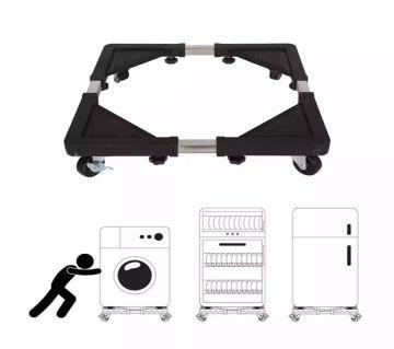 Roller Washing Machine Refrigerator Base Reinforced Retractable Movable Rack with Wheels Kitchen Fridge Base Bracket