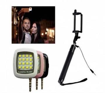 LED Flash Light & Selfie Stick