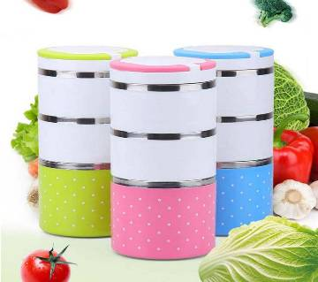 Lunch Box Set 3 Layer - Multi Color