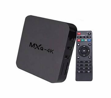 MXQ 4K স্মার্ট TV বক্স-ব্ল্যাক
