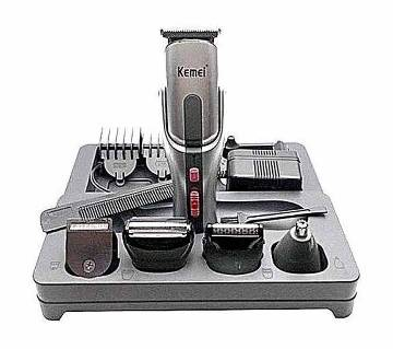 Kemei KM-680A 8 in 1 Rechargeable Shaver and Trimmer